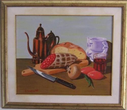 """""""Natura morta"""" - olio su tela (50 x 60) del 1993"""