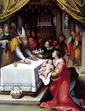 """""""Presentazione di Gesù nel Tempo"""" - olio su tela di David Cliffert"""