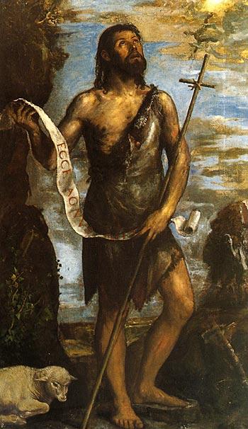 """San Giovanni Battista"" - Olio su tela, cm 185x114  El Escorial, monastero (Sala Capitolare)"