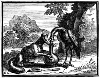volpe e cicogna