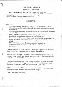 Determinazione n.20 del 15/05/2009
