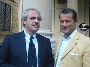 Nino Strano con il presidente della regione