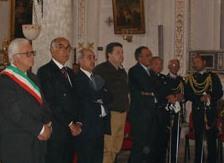 Mussomeli, sindaco, presidente del consiglio e altre autorità al Corpus Domini