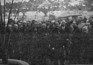 Le autorità fasciste intervenute all'inaugurazione