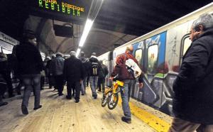 Bici su metro e bus