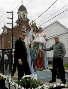 Pittston, processione Madonna del Rosario di Montedoro