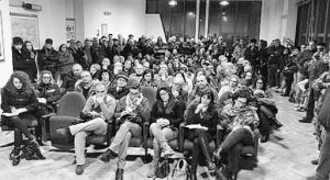 L'aula affollata