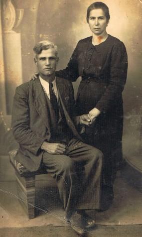 Vitellaro Girolamo con la moglie Francesca