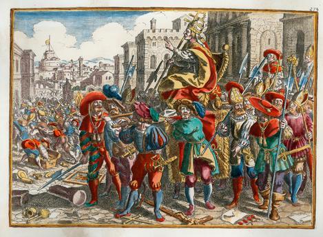 Risultati immagini per immagine del sacco di roma 1527