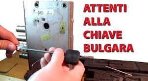 La chiave bulgara milocca milena libera for Estrarre chiave rotta da cilindro