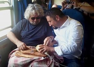 Cancelleri in viaggio con Grillo
