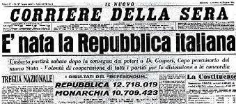 Nascita della repubblica italiana milocca milena libera for Repubblica italiana nascita