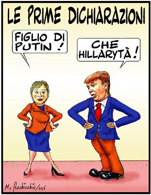 le-prime-dichiarazioni-trump-hillary