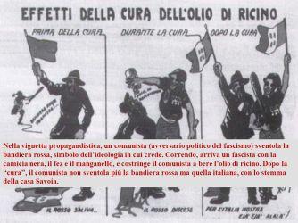 Il+fascismo+è+arrivato+al+potere+con+metodi+violenti,+usando+il+manganello+e+l_olio+di+ricino+(un+potente+lassativo)+contro+gli+avversari+politici.