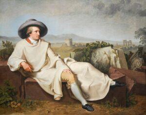 Goethe-ad-Agrigento-Johann_Heinrich_Wilhelm_Tischbein_-_Goethe_in_der_roemischen_Campagna-300x236
