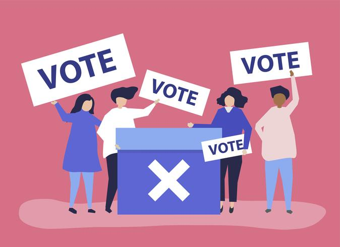 character-illustration-of-people-with-vote-icons-vector